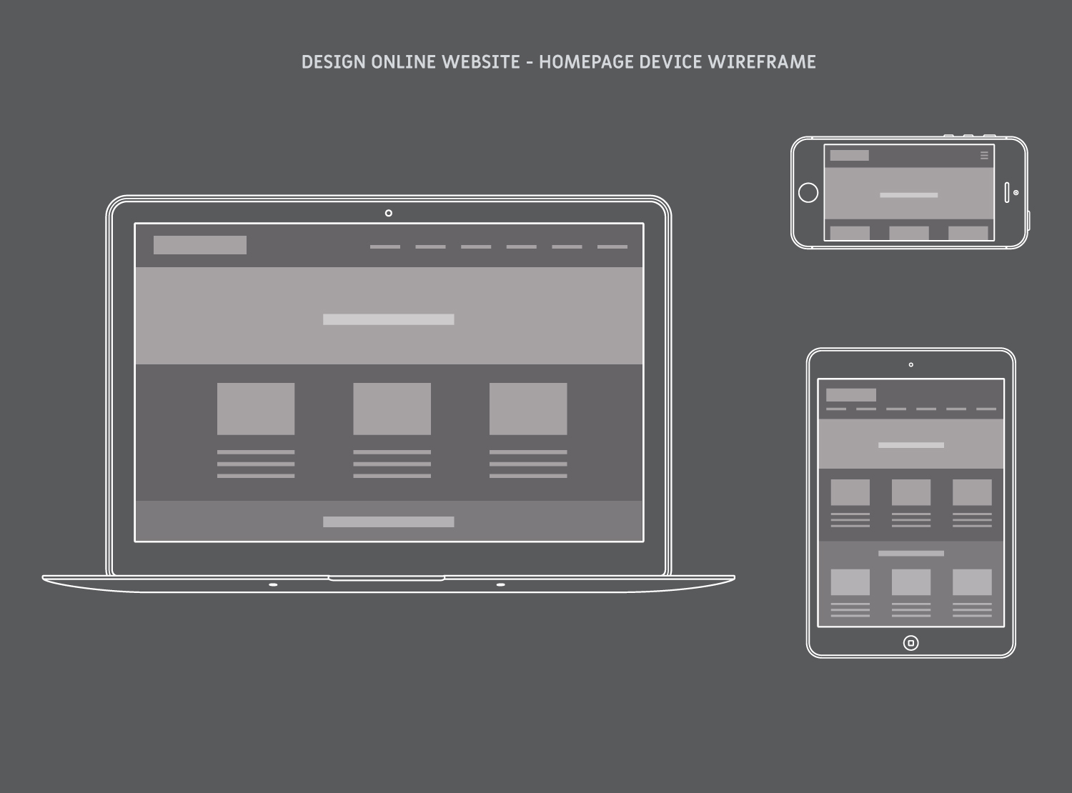 Design Online Homepage Device Wireframe