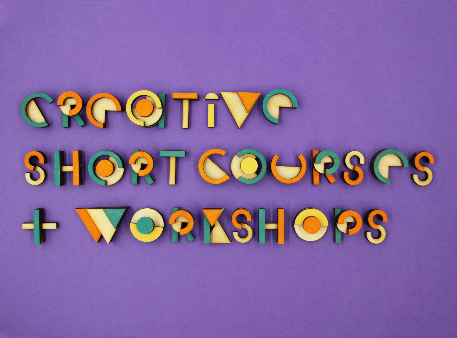 Creative Short Courses & Workshops Typography