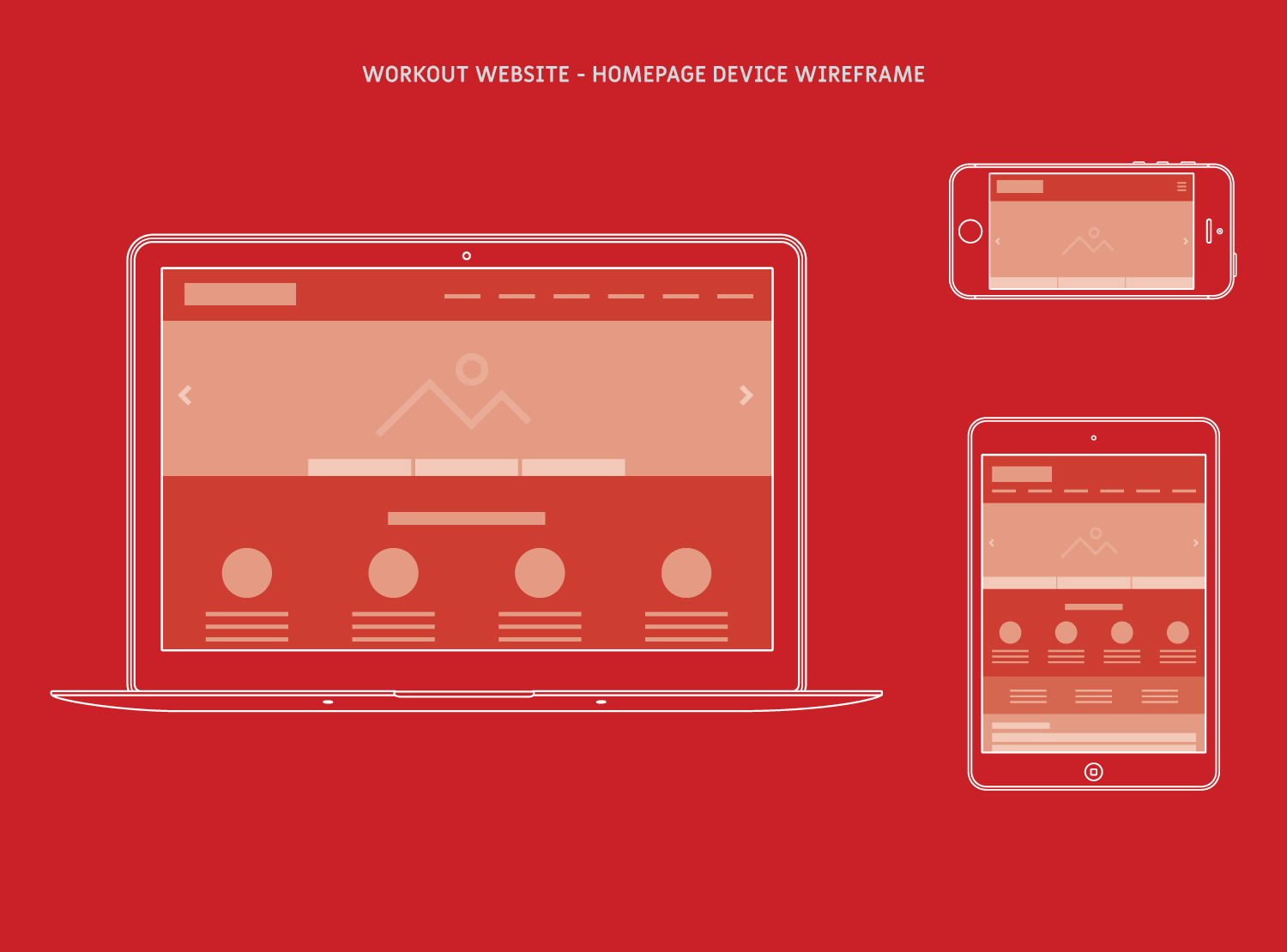 Workout Device Wireframe